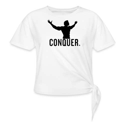 Arnold Conquer - Women's Knotted T-Shirt