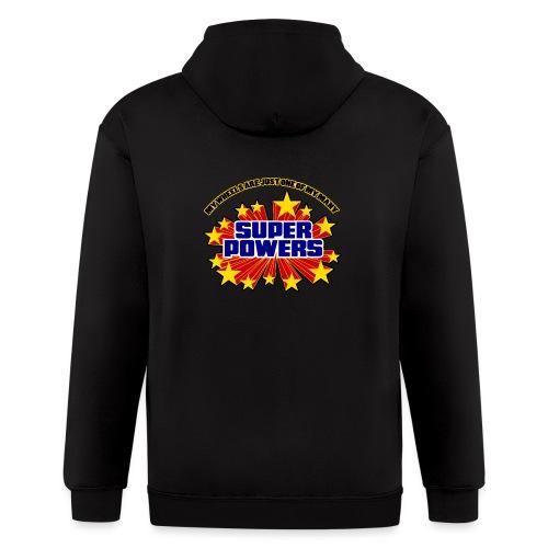 Superpowers Button - Men's Zip Hoodie