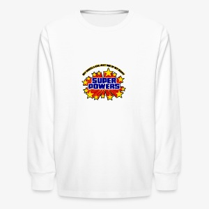 Superpowers Button - Kids' Long Sleeve T-Shirt