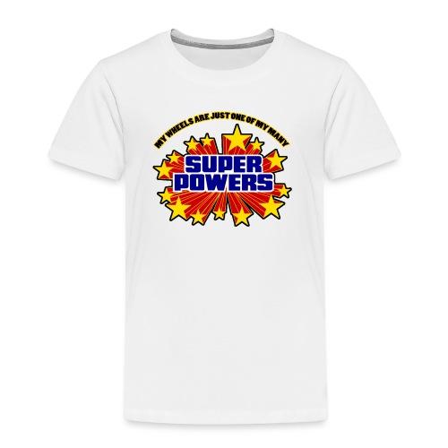 Superpowers Button - Toddler Premium T-Shirt
