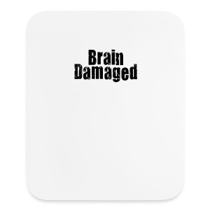 Brain Damaged Button - Mouse pad Vertical