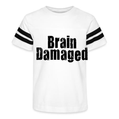 Brain Damaged Button - Kid's Vintage Sport T-Shirt