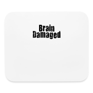 Brain Damaged Button - Mouse pad Horizontal