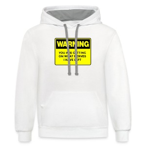 Warning Button - Contrast Hoodie