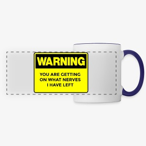 Warning Button - Panoramic Mug