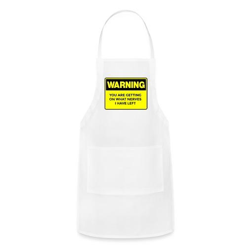 Warning Button - Adjustable Apron