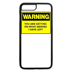Warning Button - iPhone 7 Plus/8 Plus Rubber Case