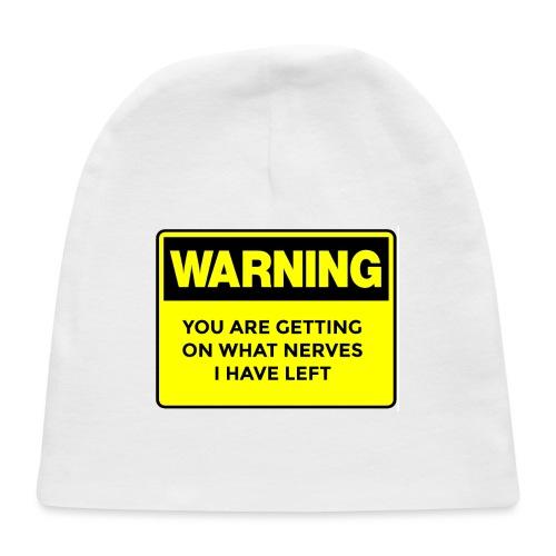 Warning Button - Baby Cap