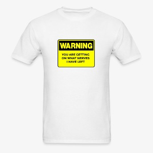 Warning Button - Men's T-Shirt