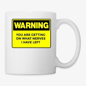 Warning Button - Coffee/Tea Mug