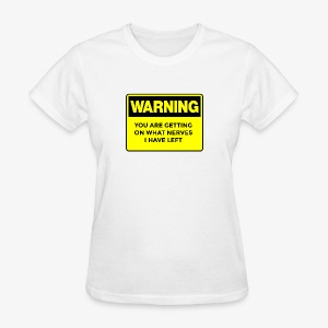 Warning Button - Women's T-Shirt