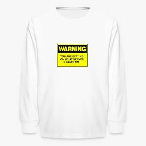 Warning Button - Kids' Long Sleeve T-Shirt