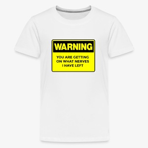 Warning Button - Kids' Premium T-Shirt