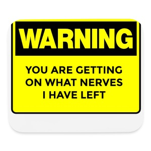 Warning Button - Mouse pad Horizontal