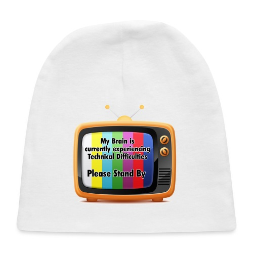 Technical Difficulties Button - Baby Cap