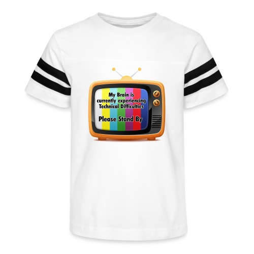 Technical Difficulties Button - Kid's Vintage Sport T-Shirt