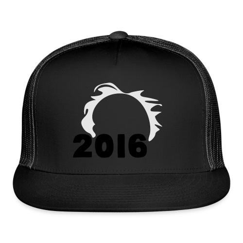Men's Bernie Sanders Hair T-Shirt Black - Trucker Cap