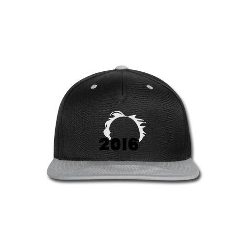 Men's Bernie Sanders Hair T-Shirt Black - Snap-back Baseball Cap