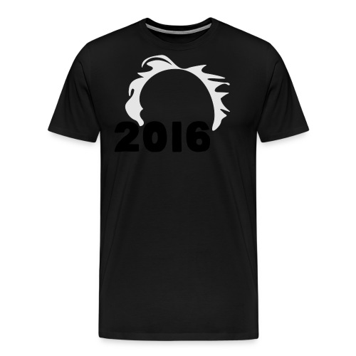 Men's Bernie Sanders Hair T-Shirt Black - Men's Premium T-Shirt