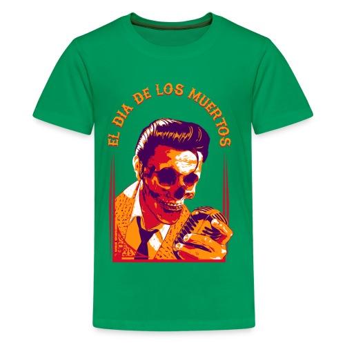 Halloween Elvis Dead     El Dia de los Muertos Women's T-Shirts - Kids' Premium T-Shirt