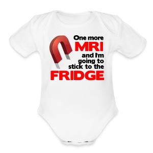 One more MRI - Short Sleeve Baby Bodysuit