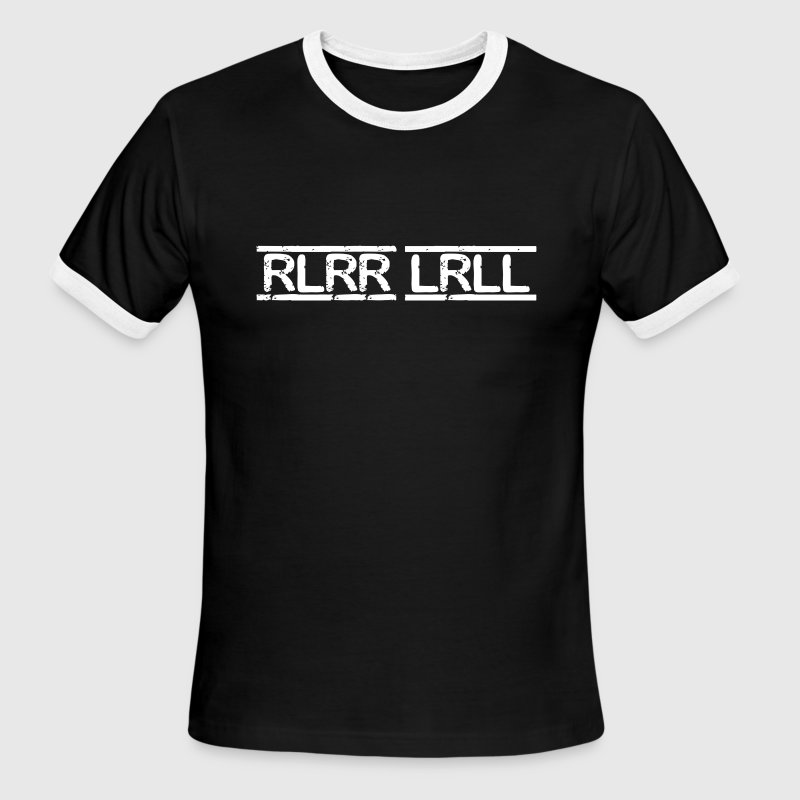 RLRR LRLL Paradiddle T-Shirts - Men's Ringer T-Shirt