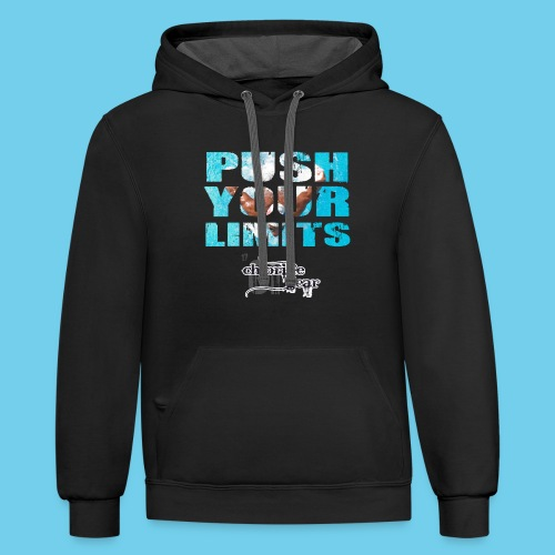Motivational Series-Push Your Limits- Men's American Apparel LS Tee - Contrast Hoodie