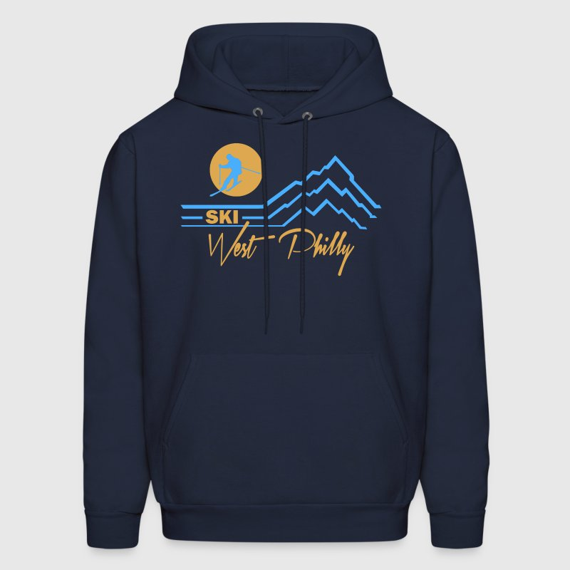 Ski West Philly  Hoodies - Men's Hoodie
