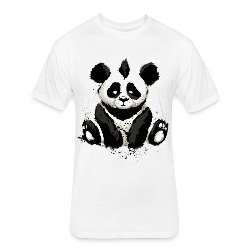 Inked Panda Bear - Fitted Cotton/Poly T-Shirt by Next Level