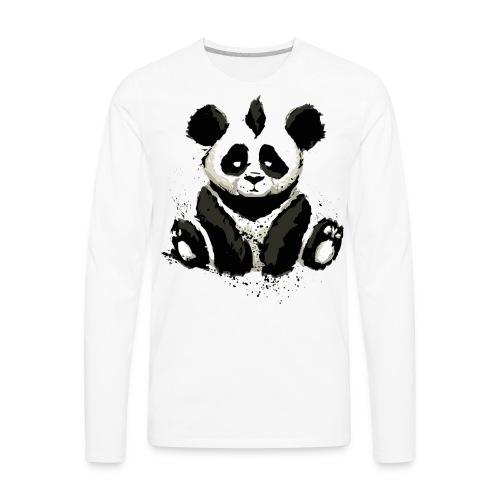 Inked Panda Bear - Men's Premium Long Sleeve T-Shirt