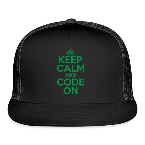 Keep Calm and Code On - Trucker Cap