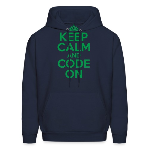 Keep Calm and Code On - Men's Hoodie
