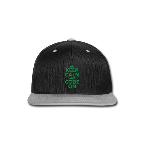 Keep Calm and Code On - Snap-back Baseball Cap