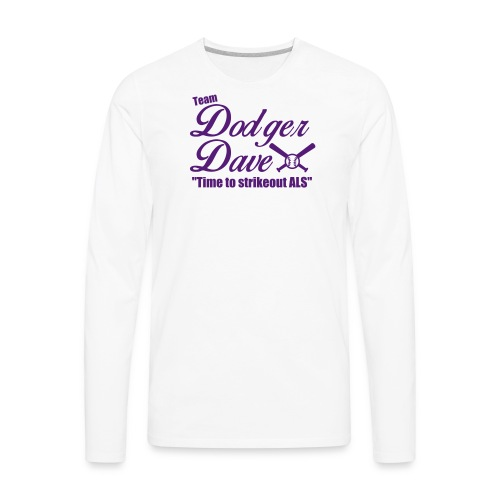 Men's Baseball Tee TDD Nblue - Men's Premium Long Sleeve T-Shirt