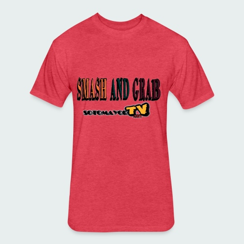 Smash & Grab - Fitted Cotton/Poly T-Shirt by Next Level