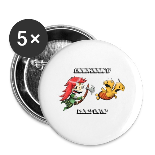 Women's Double Unfine Tee - Buttons large 2.2'' (5-pack)