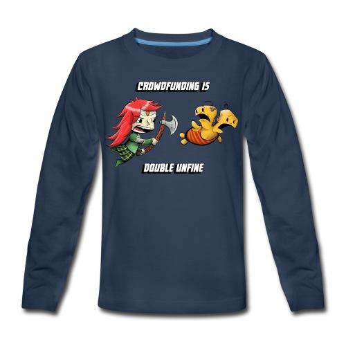 Women's Double Unfine Tee - Kids' Premium Long Sleeve T-Shirt