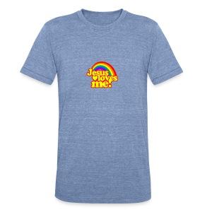 Jesus Loves Me (Ladies) - Unisex Tri-Blend T-Shirt