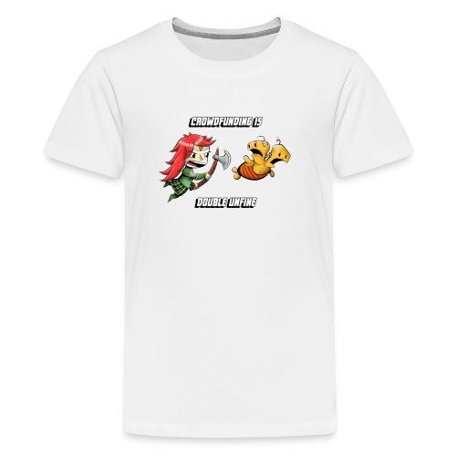 Mini Double Unfine Buttons (5pc) - Kids' Premium T-Shirt