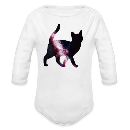 GalaxyCat - Organic Long Sleeve Baby Bodysuit