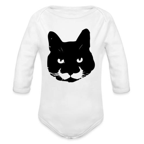 MoustacheCat - Organic Long Sleeve Baby Bodysuit