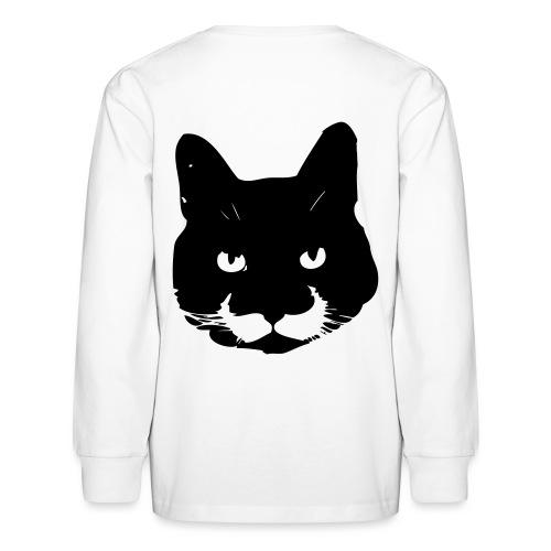 MoustacheCat - Kids' Long Sleeve T-Shirt