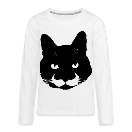 MoustacheCat - Kids' Premium Long Sleeve T-Shirt