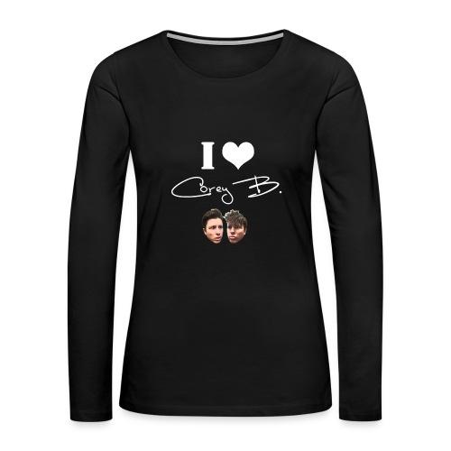 I Love Corey B Womans Hoodie - Women's Premium Long Sleeve T-Shirt