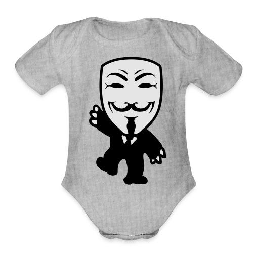 Anonymous Kid hoodie - Cache-couche à manches courtes bio