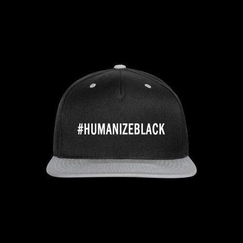 HUMANIZE BLACK ORIGINAL TEE  - Snap-back Baseball Cap