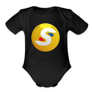 SilverLeopard Coin Logo (NEW) (Alternate) - Short Sleeve Baby Bodysuit