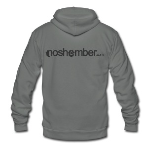 Noshember Dudes T - Unisex Fleece Zip Hoodie by American Apparel