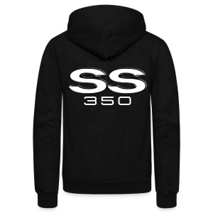Chevy SS350 emblem - Unisex Fleece Zip Hoodie by American Apparel