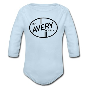 B.F. Avery Model A emblem - Long Sleeve Baby Bodysuit
